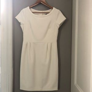 Ivory Dress with Gold Button Back Detail